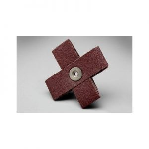 "1-1/2"" x 1/2"" 8 Ply 80 Grit Cross Pads Qty.100 (8-32 eyelet)"