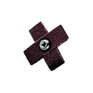 "1"" x 3/8"" 8 Ply 80 Grit Cross Pads Qty.100 (3-48 eyelet)"